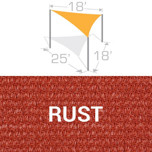 TS-1825 Sail Shade Structure Kit - Rust