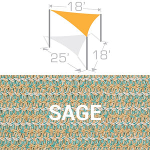 TS-1825 Sail Shade Structure Kit - Sage
