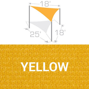 TS-1825 Sail Shade Structure Kit - Yellow