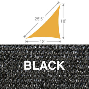 TS-1825 Triangle Shade Sail - Black