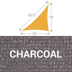 TS-1825 Triangle Shade Sail - Charcoal