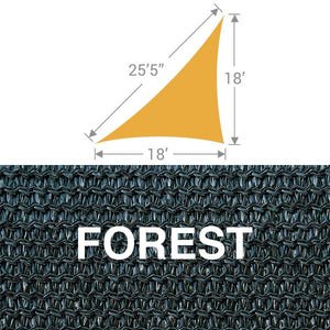 TS-1825 Triangle Shade Sail - Forest