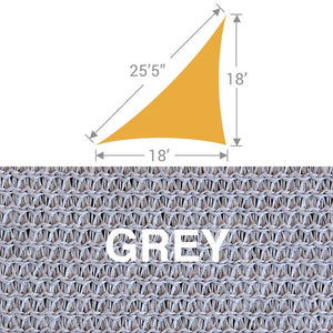 TS-1825 Triangle Shade Sail - Grey