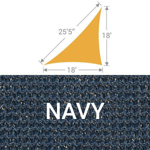 TS-1825 Triangle Shade Sail - Navy