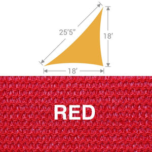 TS-1825 Triangle Shade Sail - Red