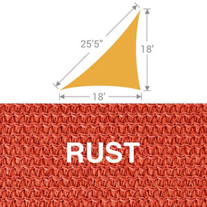 TS-1825 Triangle Shade Sail - Rust