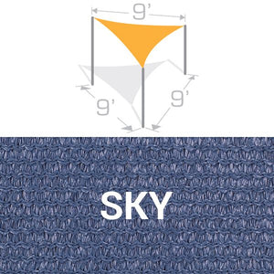 TS-9 Sail Shade Structure Kit - Sky