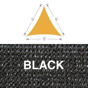 TS-9 Triangle Shade Sail - Black