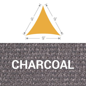 TS-9 Triangle Shade Sail - Charcoal