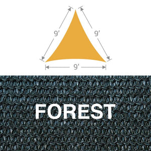 TS-9 Triangle Shade Sail - Forest