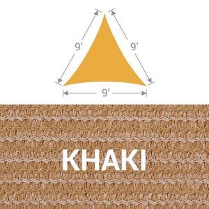 TS-9 Triangle Shade Sail - Khaki