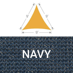 TS-9 Triangle Shade Sail - Navy