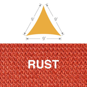 TS-9 Triangle Shade Sail - Rust