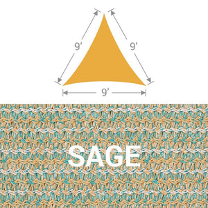 TS-9 Triangle Shade Sail - Sage