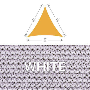 TS-9 Triangle Shade Sail - White