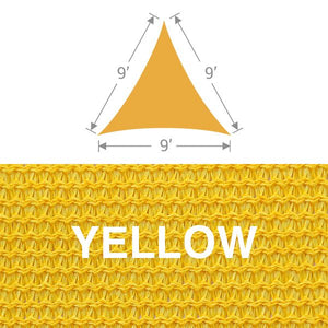 TS-9 Triangle Shade Sail - Yellow