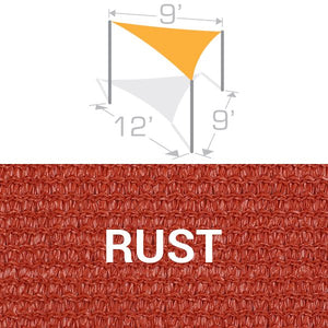 TS-912 Sail Shade Structure Kit - Rust