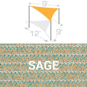 TS-912 Sail Shade Structure Kit - Sage