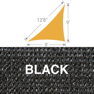 TS-912 Triangle Shade Sail - Black
