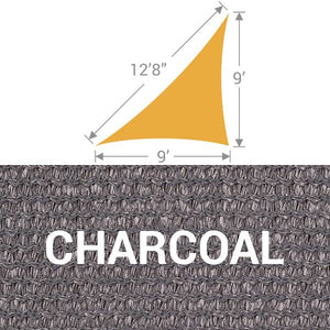 TS-912 Triangle Shade Sail - Charcoal