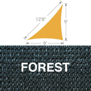 TS-912 Triangle Shade Sail - Forest