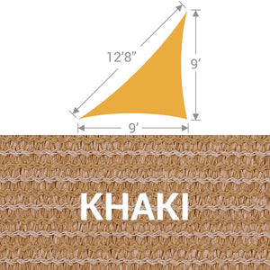 TS-912 Triangle Shade Sail - Khaki