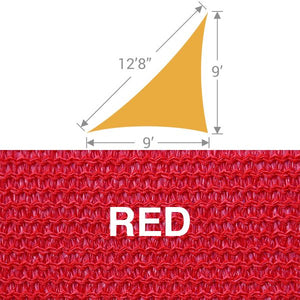 TS-912 Triangle Shade Sail - Red