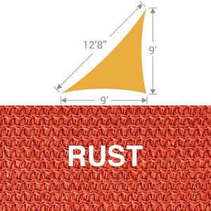 TS-912 Triangle Shade Sail - Rust