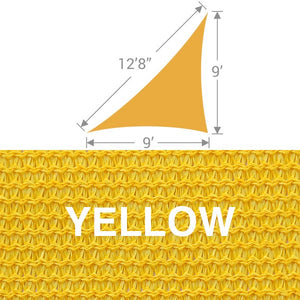 TS-912 Triangle Shade Sail - Yellow