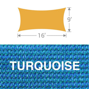 RS-916 Rectangle Shade Sail - Turquoise