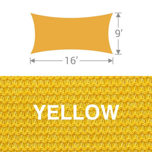 RS-916 Rectangle Shade Sail - Yellow