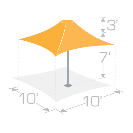 10x10 Permanent Shade Umbrella