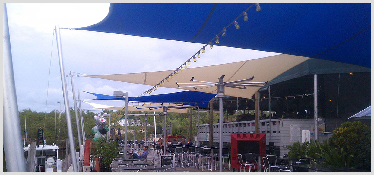 Blackpoint Marina shade sails in FL