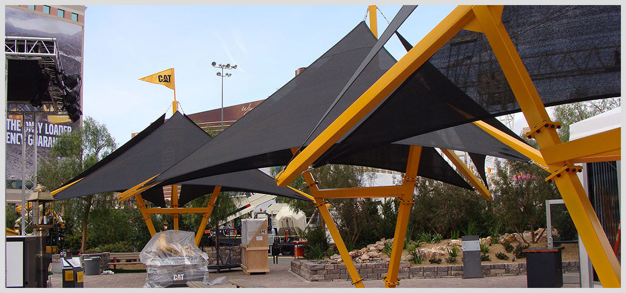 CAT Expo shade structures