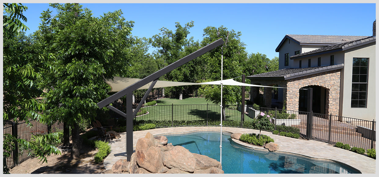 Pool swing and shade in Queen Creek, AZ