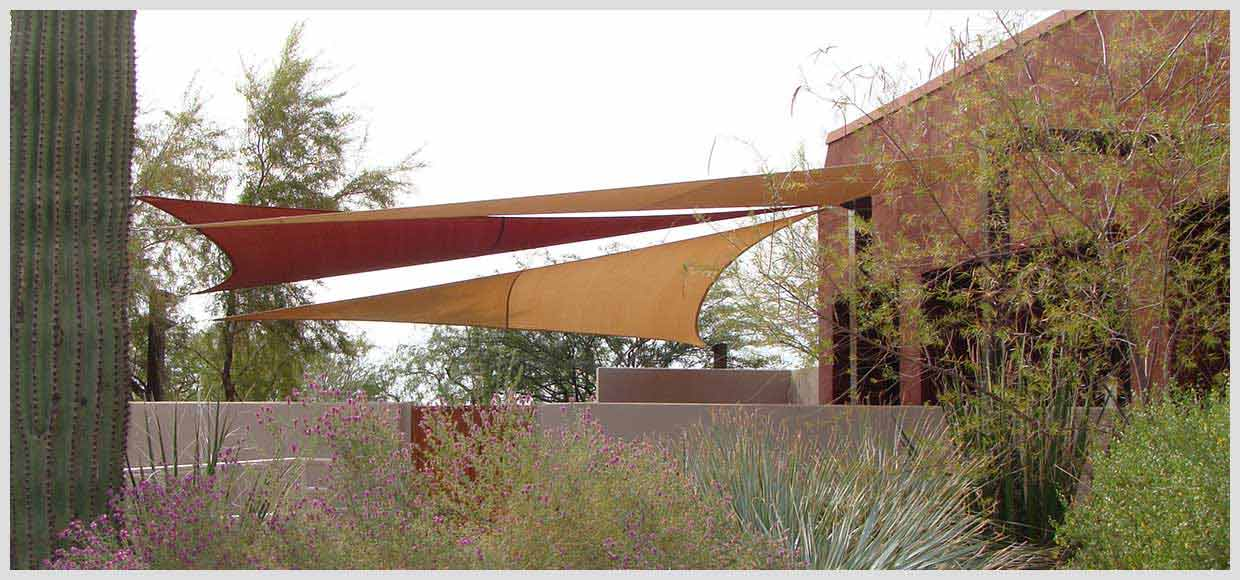 Patio shade sail in Scottsdale, AZ