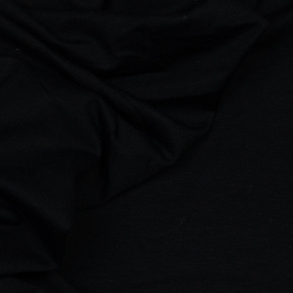 Alec Black Cotton Jersey