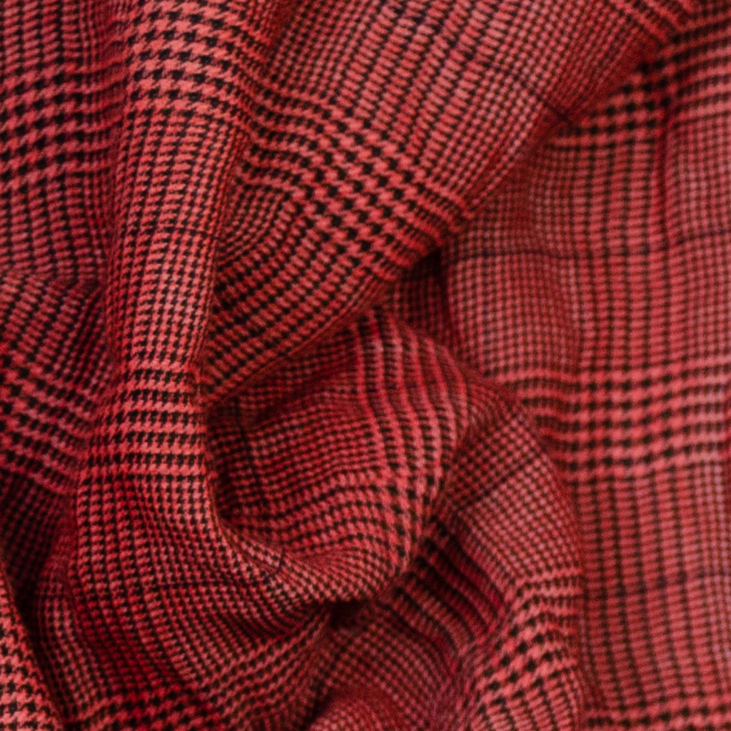 Agalia Black & Red Plaid Cotton Blend