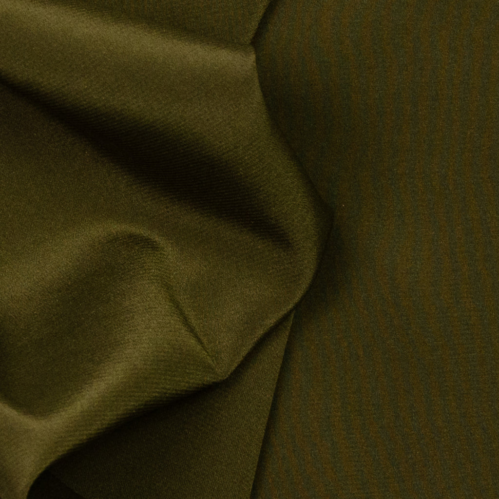 Ann Army Green Silk Stretch