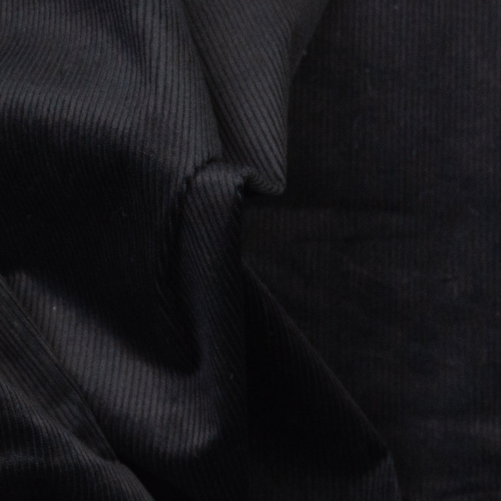 Ajamu Black Stretch Cotton Corduroy