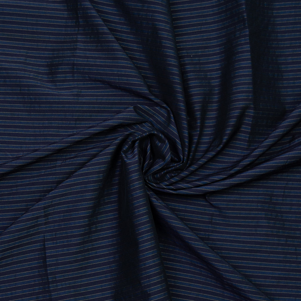 Alissa Blue Silver Striped Polyester