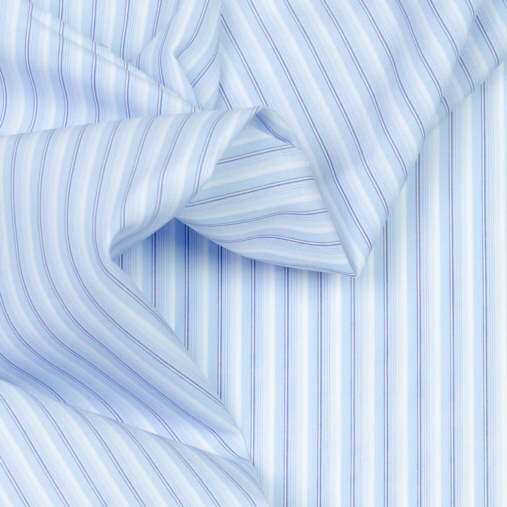 Addie Blue & White Stripe Cotton