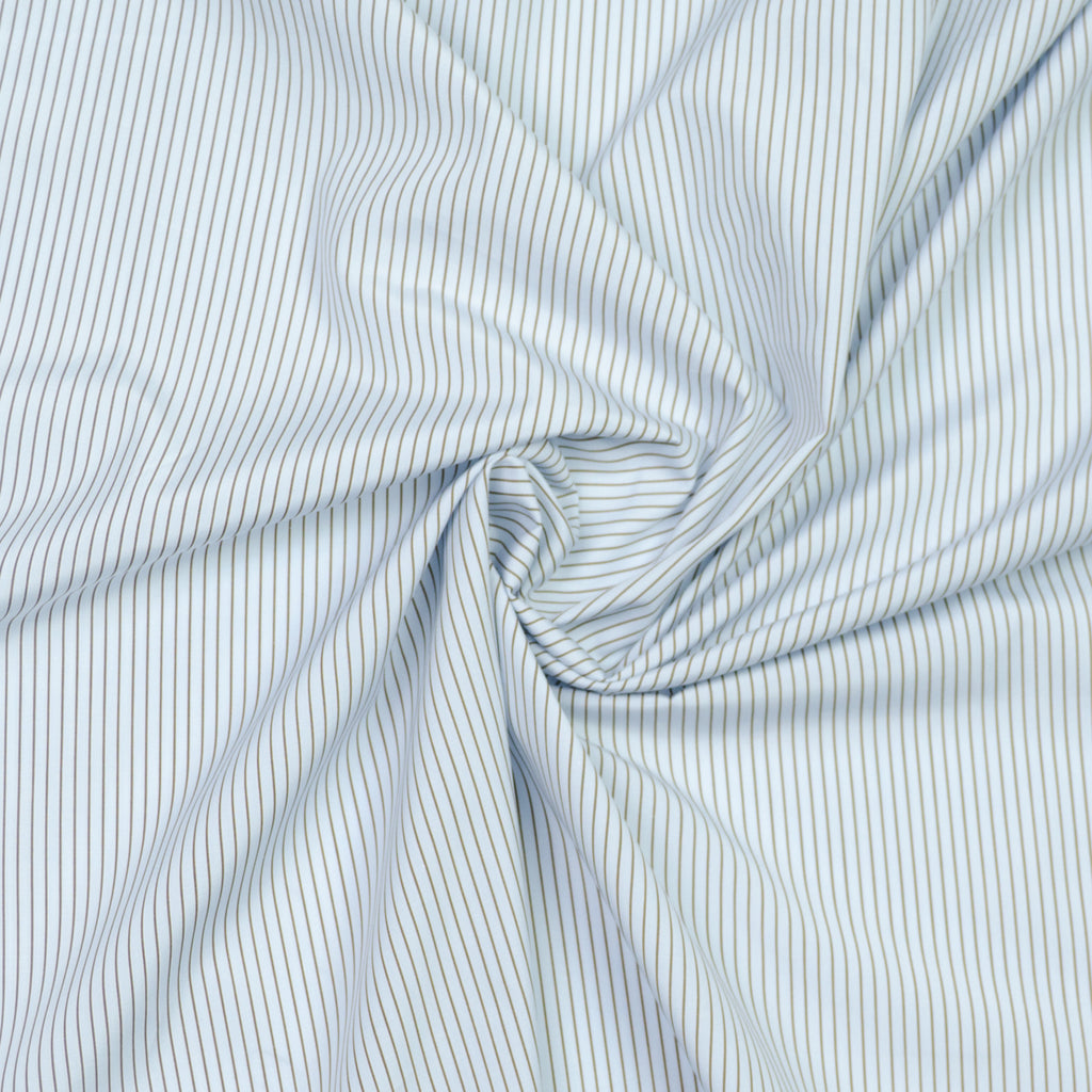 Alick Brown & Blue Striped Cotton