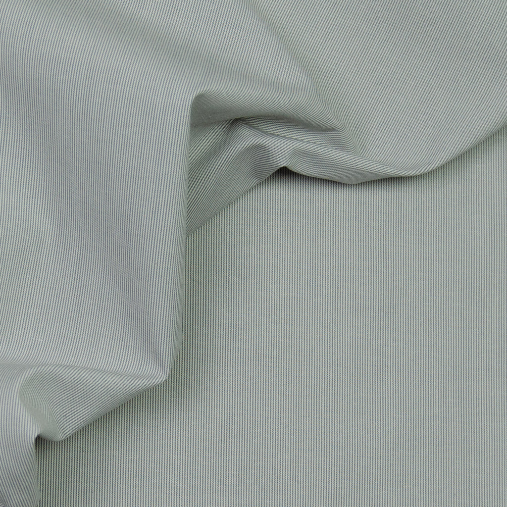 Alicia Grey & White Striped Cotton