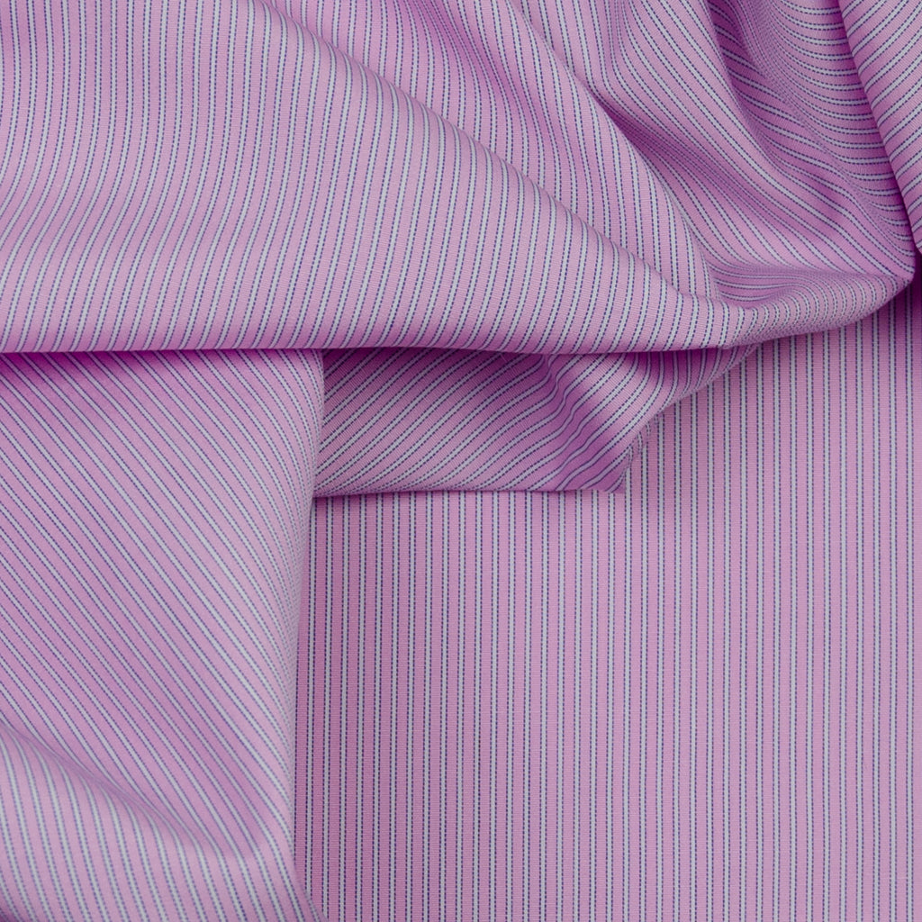 Alida Pink & White Striped Cotton