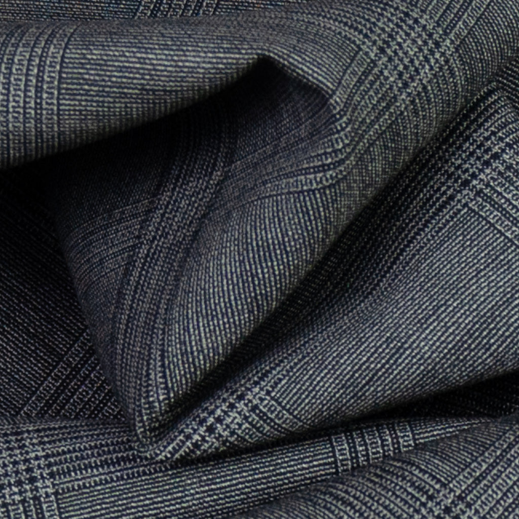 Aderes Grey & Black Plaid Wool