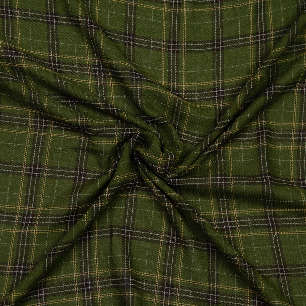Alfonzo Green Plaid Wool