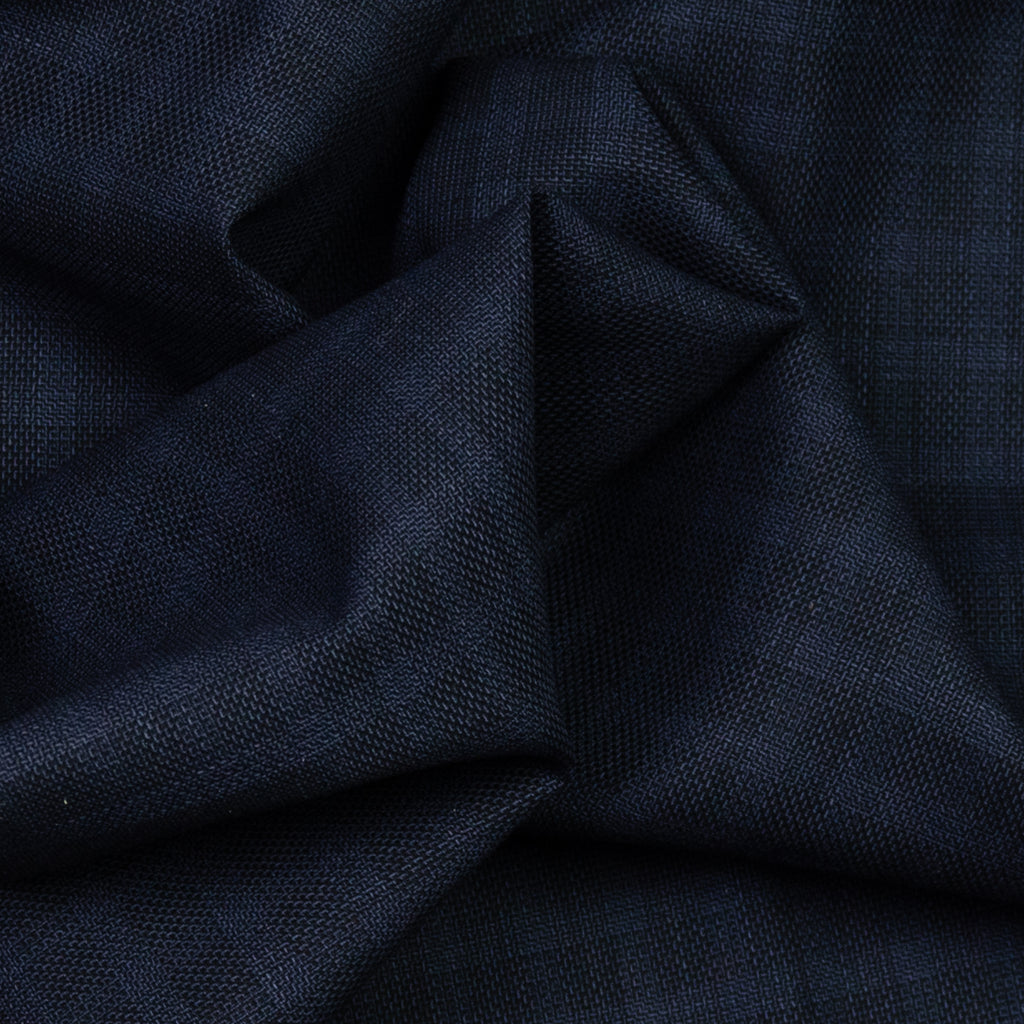 Ada Navy & Black Checked Wool