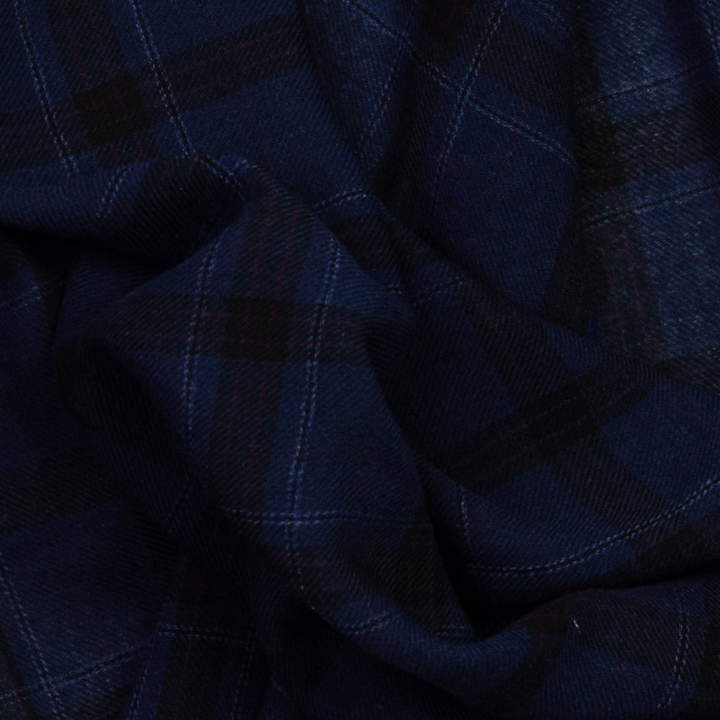 Evelyn Navy and Black Plaid Wool