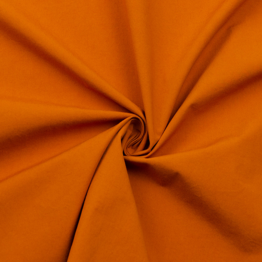 Sharon Rust Orange Cotton Poplin Stretch